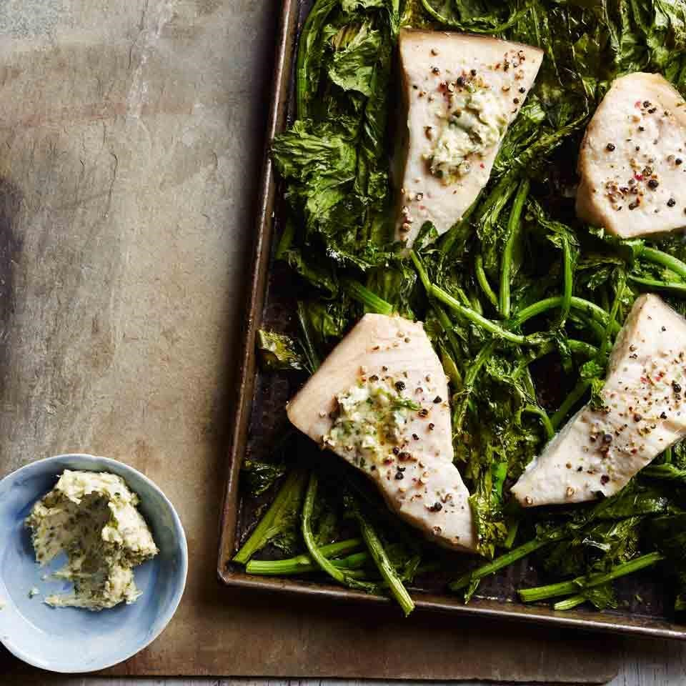 The Wicked Whisk - Roasted Fish Broccoli Rabe