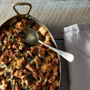 Tht Flying Apron - Sausage and Spinach Strata
